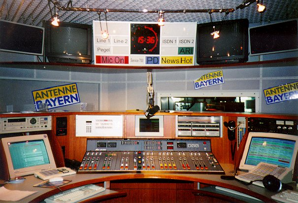 besuch im sendezentrum m nchen szm und bei antenne bayern am 6 7 september 1996 sbc e v. Black Bedroom Furniture Sets. Home Design Ideas