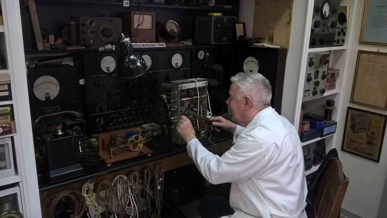 Radiomuseum DK Ringsted - historische Radio-Reparaturwerkstadt mit Bjarne Nielse